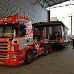 Transport 15m Nolimit binnen Groningen.